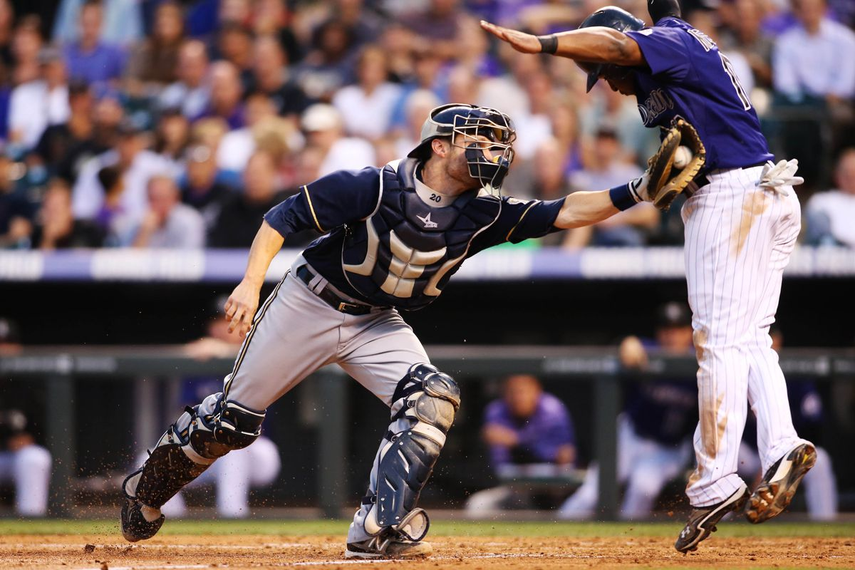 At least Chris Nelson was nice enough to not tackle Jonathan Lucroy...