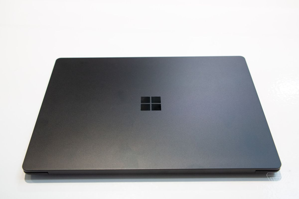 First look at Microsoft's new matte black Surface Laptop 2