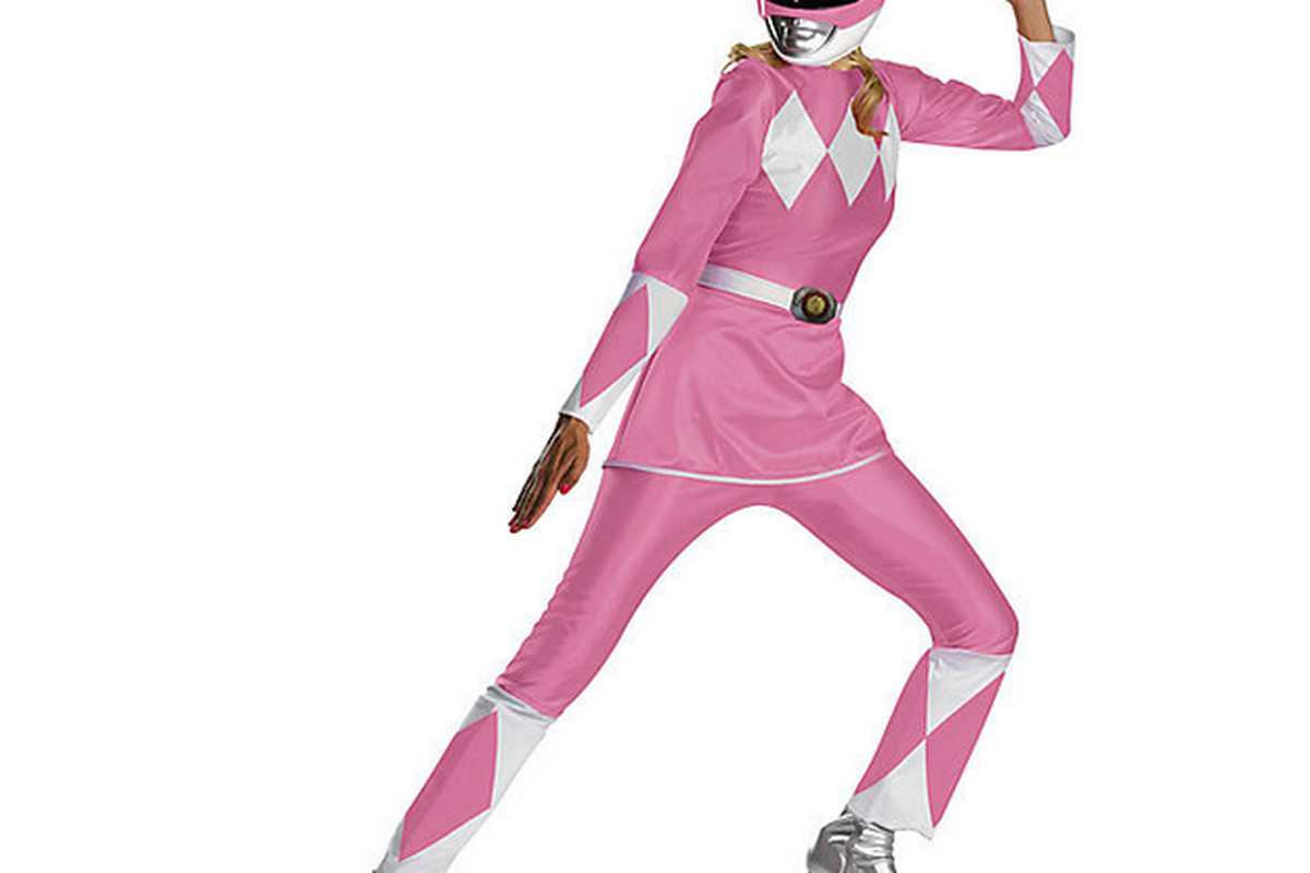 """Photo: <a href=""""http://www.rickyshalloween.com/products/womens-plus-size-deluxe-pink-power-ranger-costume"""">Ricky's NYC</a>"""