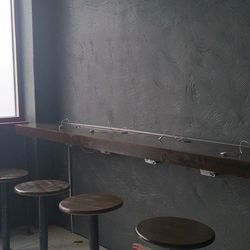 """An in-progress shot shows some counter seating with charging stations. [Photo: Vice Coffee/<a href=""""https://www.facebook.com/vicecoffee/photos_stream"""">Facebook</a>]"""