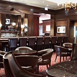 the classic mahogany of the former Season's bar was retained.