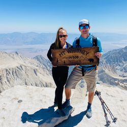 Jared and Kim White on the summit of Mount Whitney in California earlier this summer.