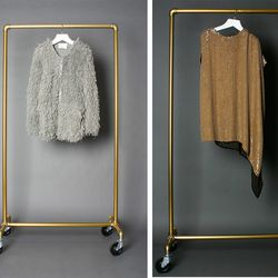 3.1 Phillip Lim long hair alpaca knit jacket (was $895, now $448) and sequin dress (was $970, now $485)