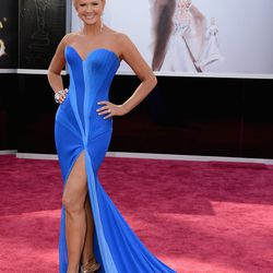 Nancy O'Dell looked like a figure skater, per the usual.