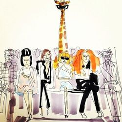I'm obsessed with <b>Donald Drawberston's</b> chic New York Fashion Week sketch!