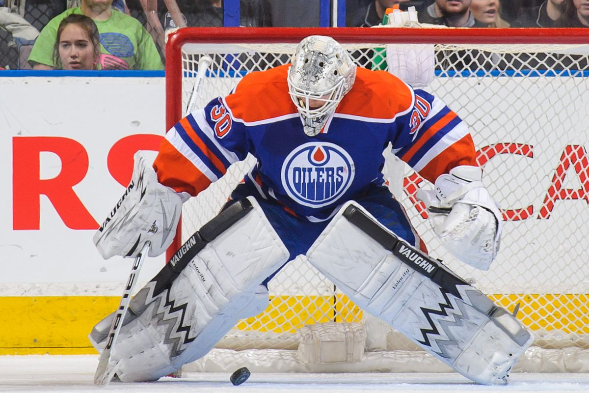Ben Scrivens makes one of 59 saves