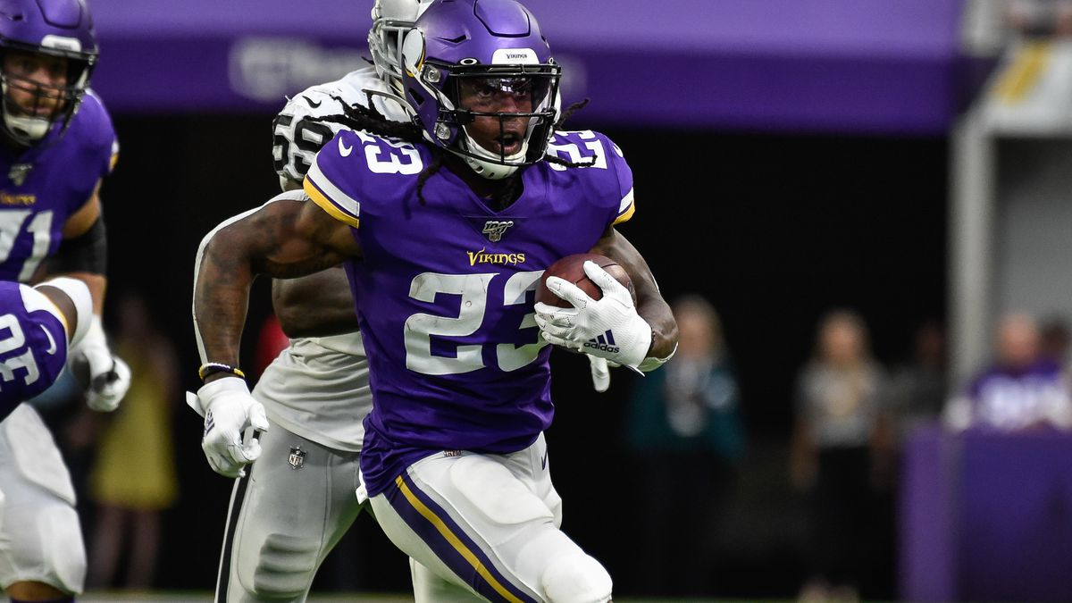 Minnesota Vikings running back Mike Boone in action against the Oakland Raiders at U.S. Bank Stadium.