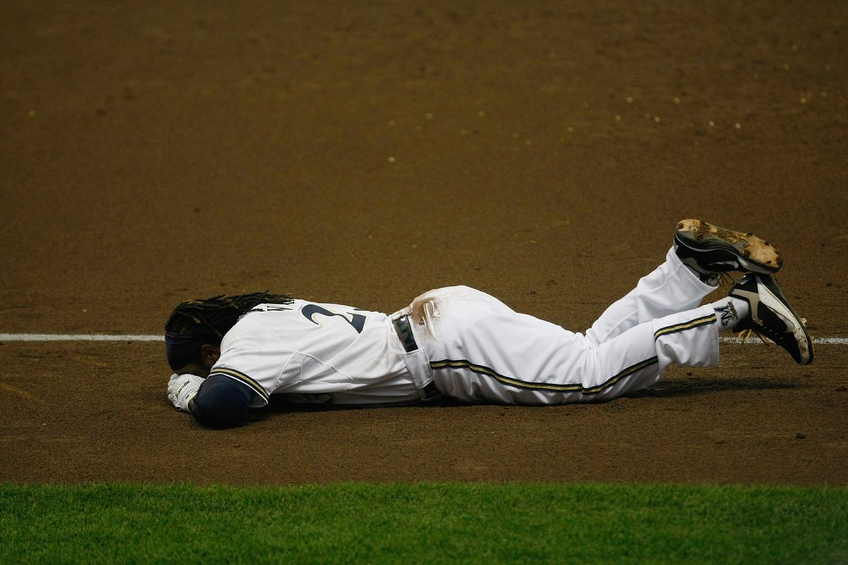 If Weeks is only out 2-4 weeks after this, then the Brewers have to consider themselves pretty lucky.
