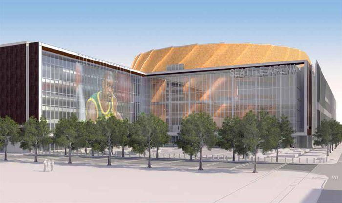 Seattle Arena Dark Exterior