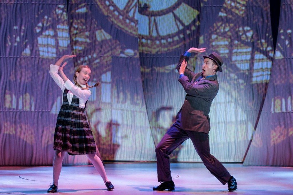 "Isabelle Roberts and Matt Crowle in the Drury Lane Theatre production of ""Bye Bye Birdie."" (Photo: Brett Beiner)"