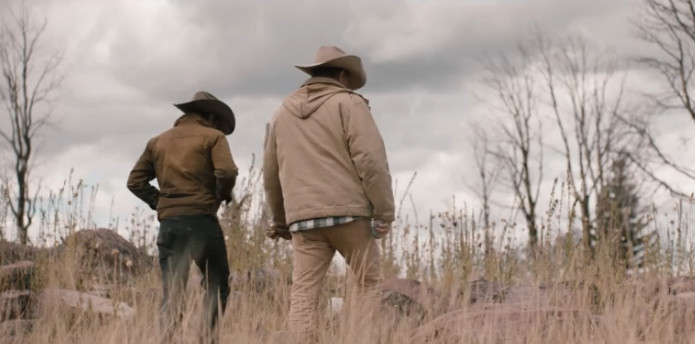 ... but this is my least favorite jacket on Yellowstone. What s up with  that hood  Real men like John Dutton don t need hoods  they have cowboy hats  for ... 83ecad5438d