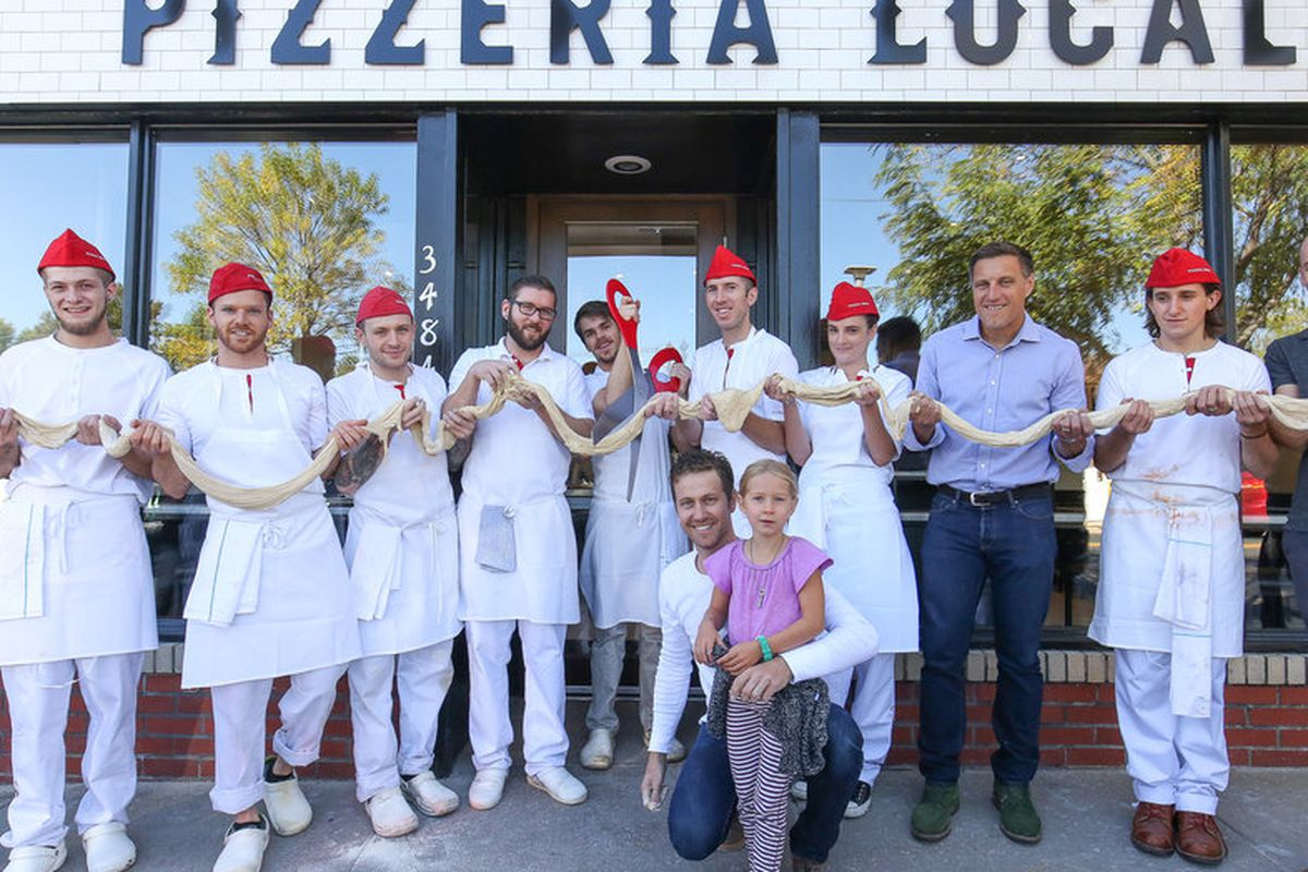 Pizzeria Locale's dough cutting ceremony in the Highland