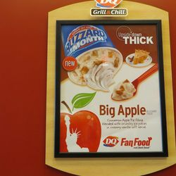 """As a limited-edition, Manhattan-only opening special, this DQ is serving an apple pie-flavored """"Big Apple Blizzard."""""""