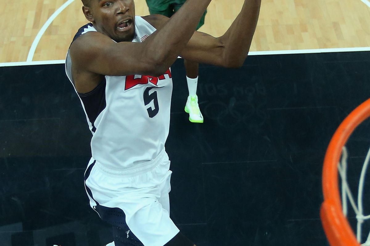 I bet this is what KD looks like when he's about to eat a hamburger.