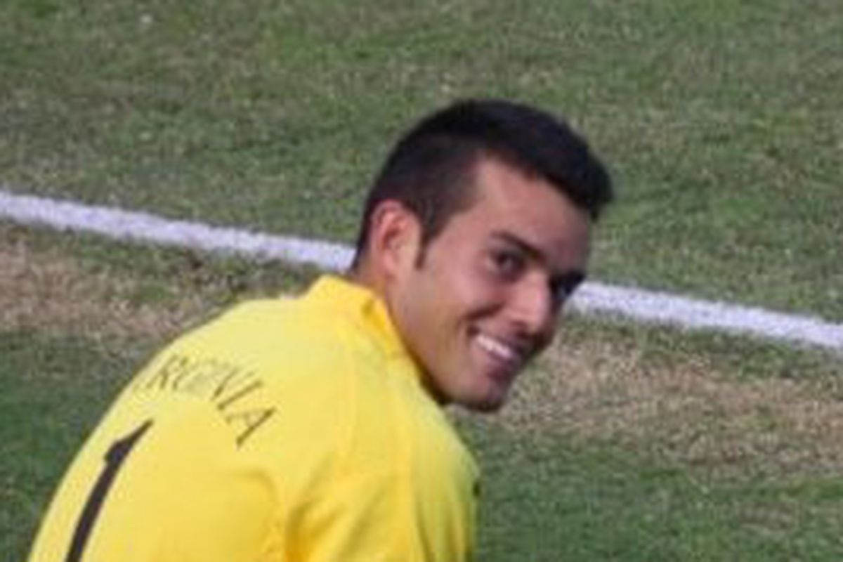 Diego Restrepo smiling at a game.