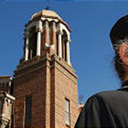 Father Makarios, a Greek Orthodox monk, grew up in the mining town of Bingham. He said growing up among immigrant families was an influence in his life.