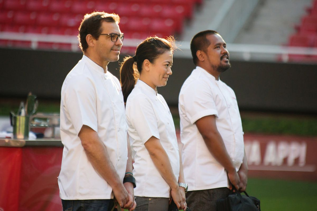 the three remaining top chef contestants