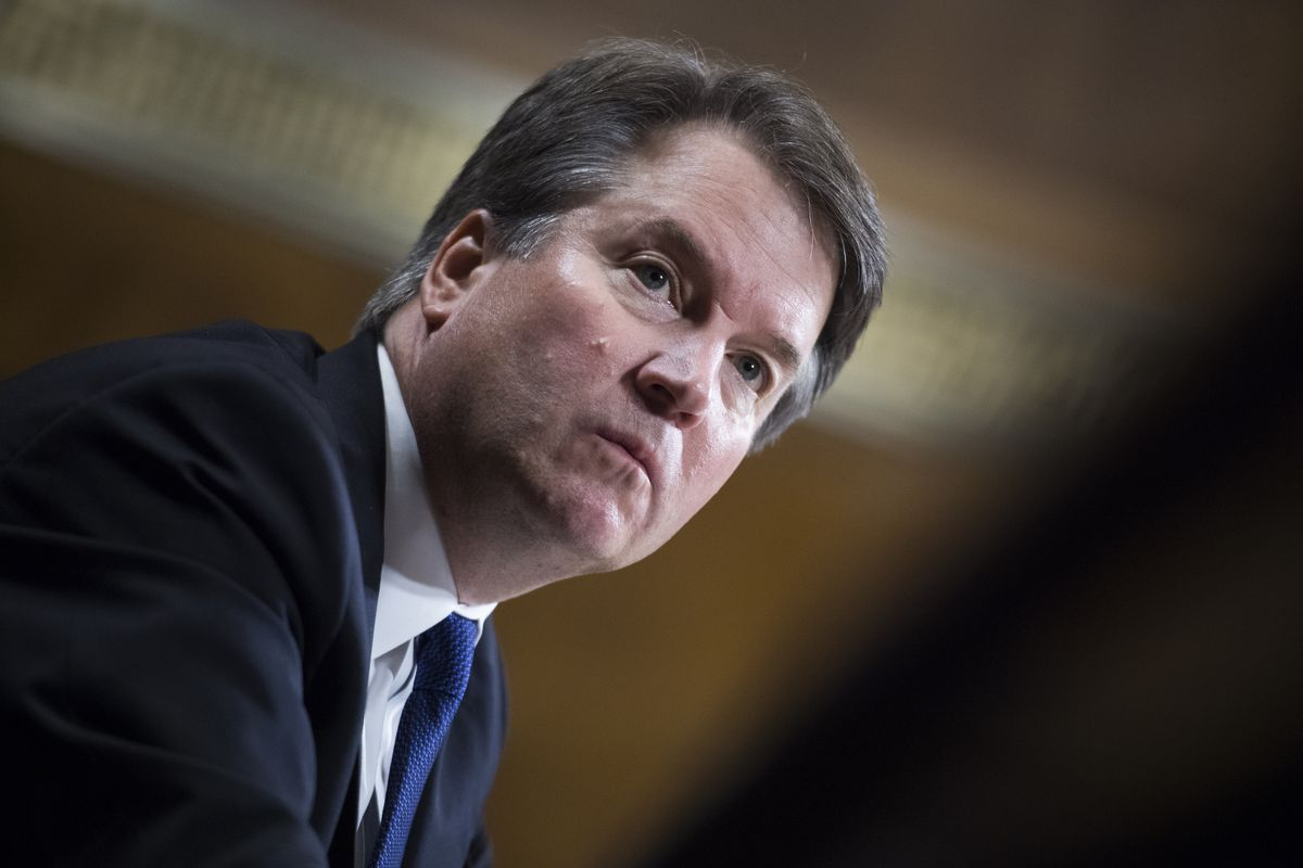 Supreme Court nominee Brett Kavanaugh testifies in front of the Senate Judiciary Committee.