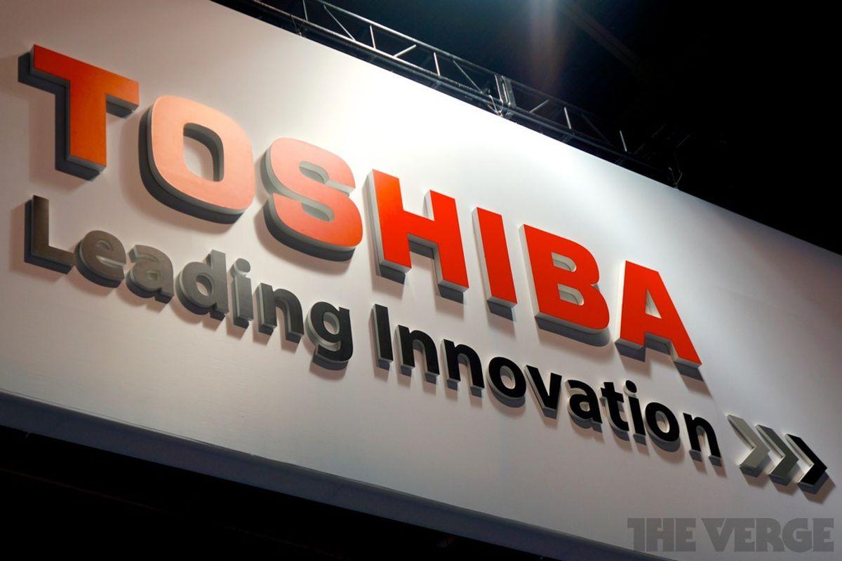 toshiba logo stock