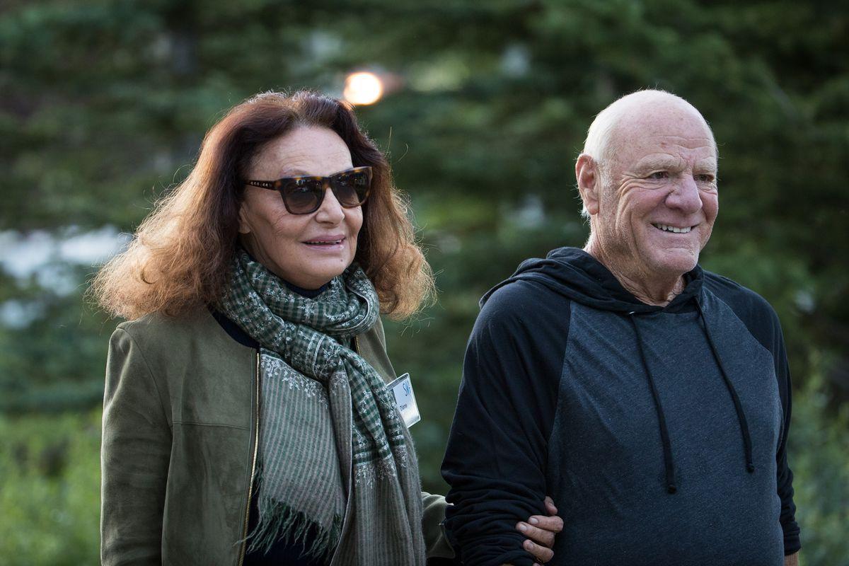 Photo ofFashion designer Diane von Furstenberg and husband Barry Diller, chairman of IAC (InterActiveCorp).