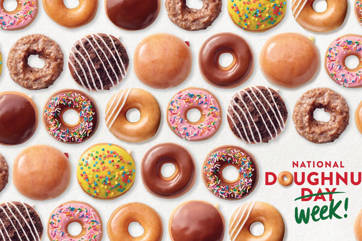Krispy Kreme extends National Doughnut Day to National Doughnut Week, offering fans any doughnut of choice for free, no purchase necessary, June 1 through June 5.