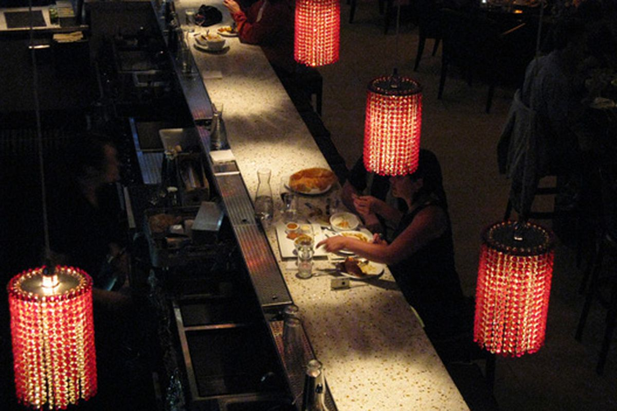 """""""Diners at the Bar in Pools of Light"""""""