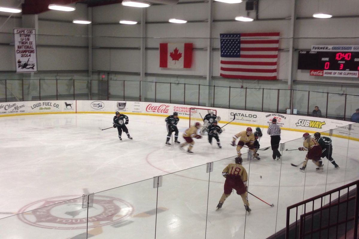 Austin Prep advanced to the Buddy Ferreira Classic championship game at the Falmouth Ice Arena.