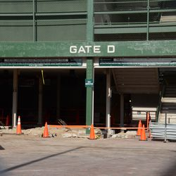 10:09 a.m. Excavation work still taking place at Gate D, at Addison and Sheffield -