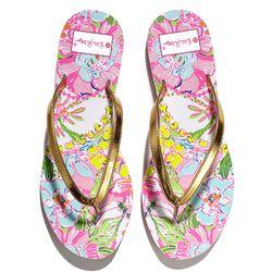 'Nosie Posey' flip flops, $16