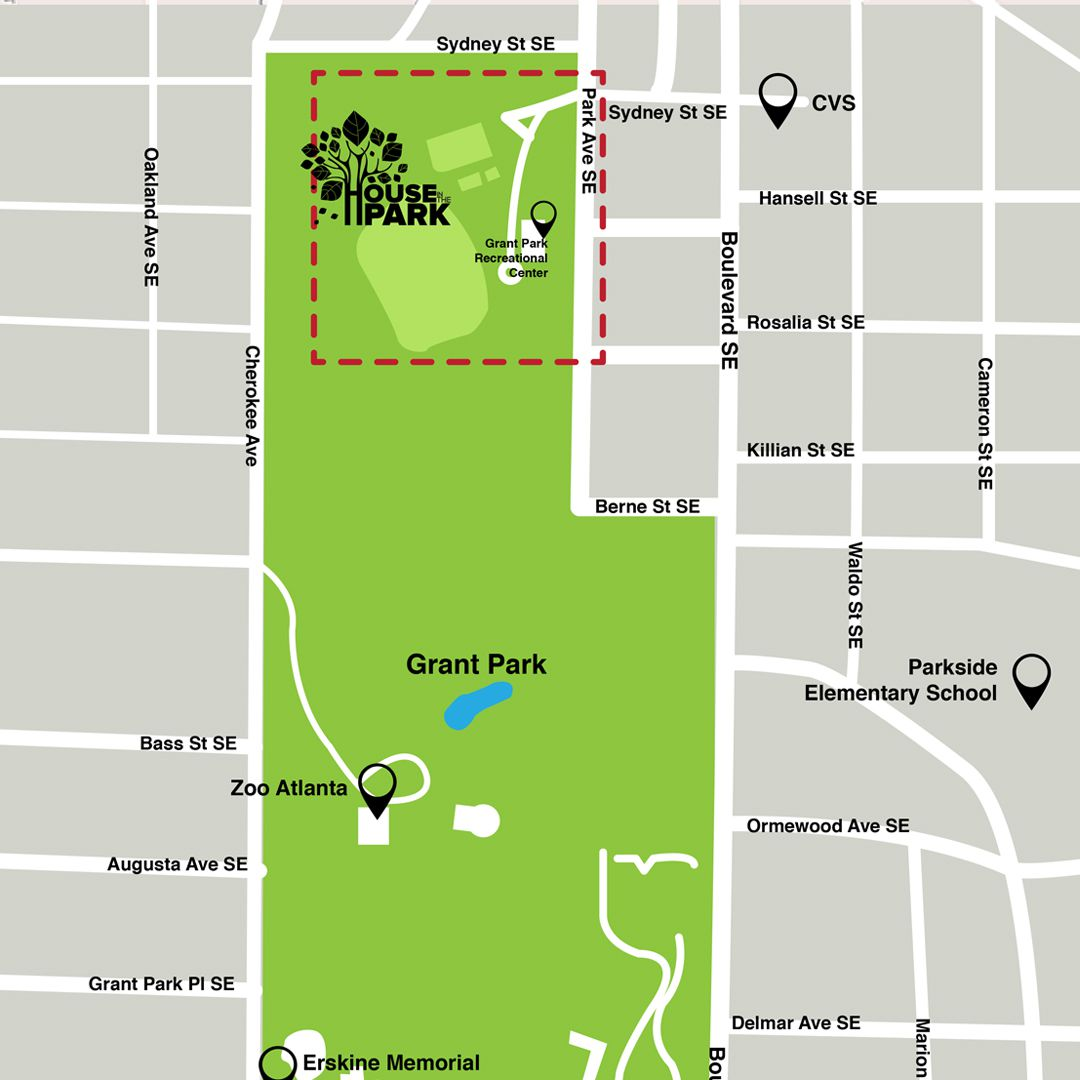 Map of Grant Park showing event location.