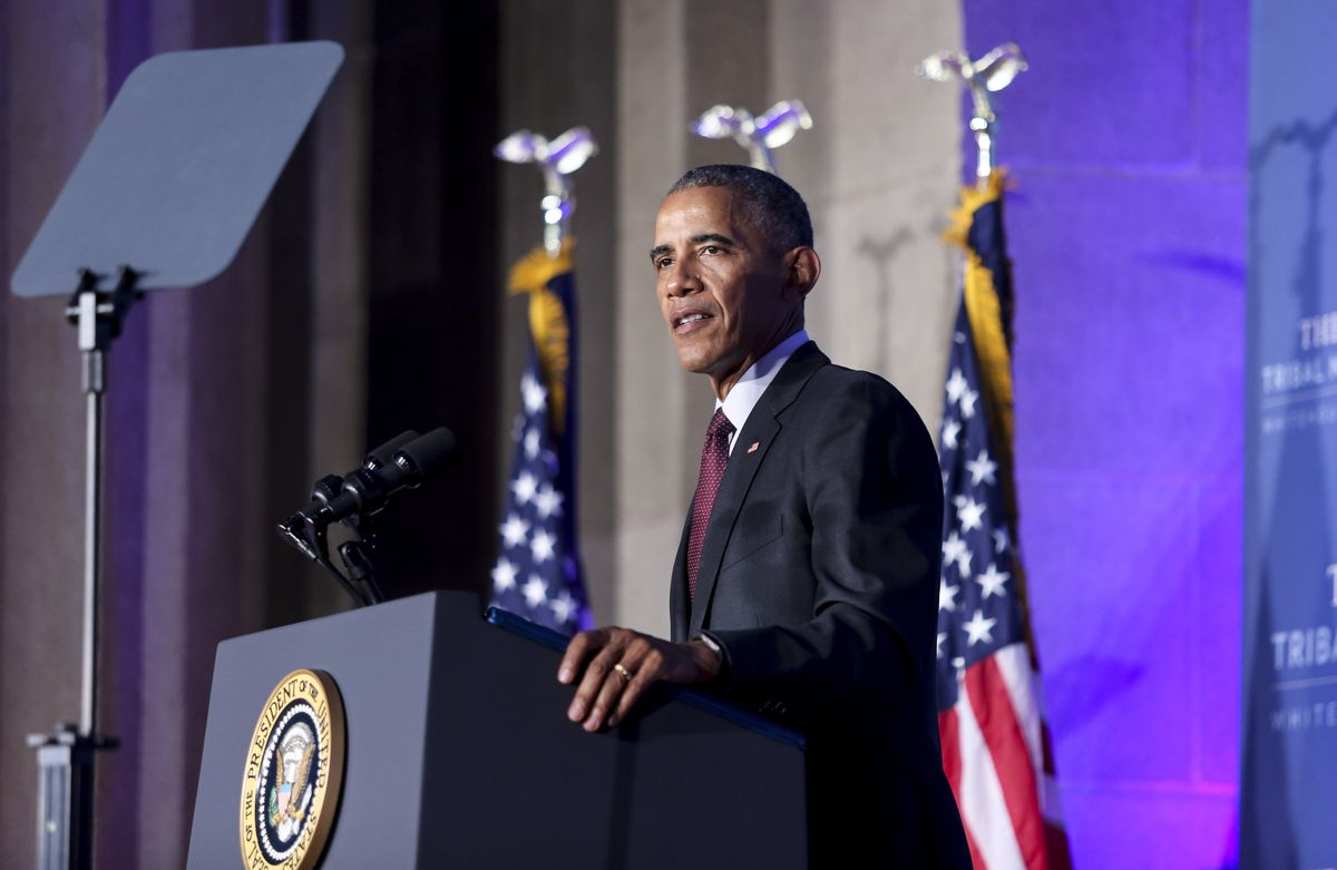 President Barack Obama attends the 2016 White House Tribal Nations Conference.