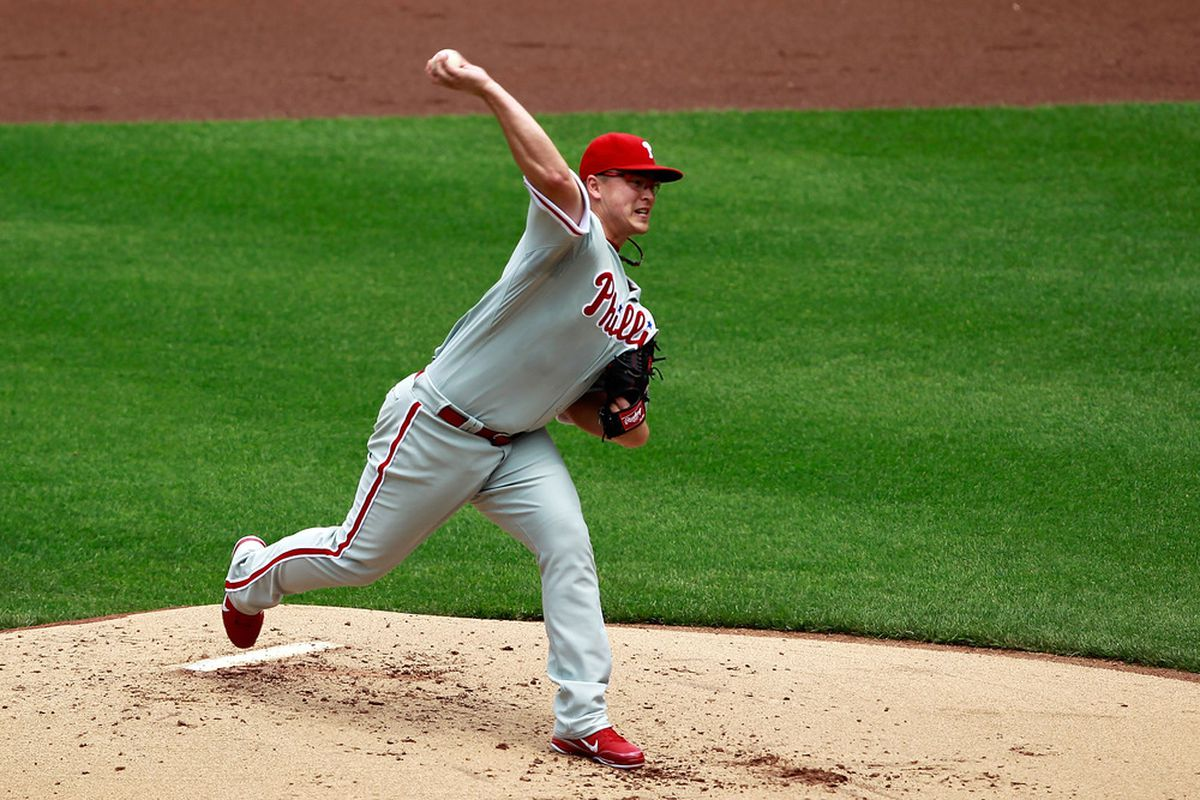 Vance Worley of the Philadelphia Phillies (Photo by Chris Trotman/Getty Images)
