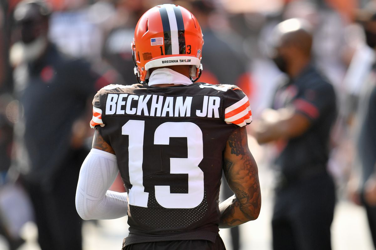 Odell Beckham Jr Injury Status Browns Wr Tests Negative For Covid 19 Has Time To Get Ready For Sunday Per Hc Draftkings Nation
