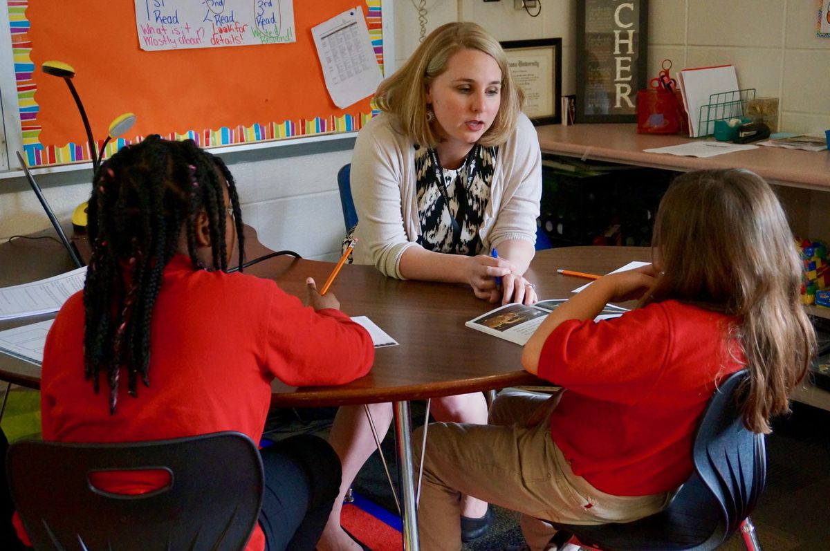 Janelle Nolan started at School 42 three years ago, and when the district decided to restart the school, she couldn't bring herself to leave her students.