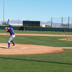 Wes Darvill bats against Lester -