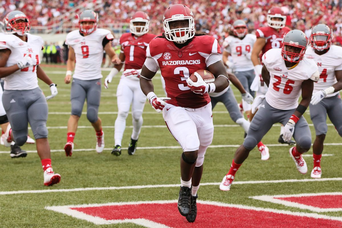 Will Alex Collins continue to make frequent trips to the end zone against Tech?