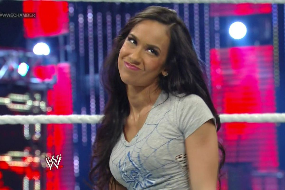 In An Impromptu Match Aj Lee Was Made To Defend Her Divas Title At Elimination Chamber Against Cameron She Managed To Do So Though Only Due To