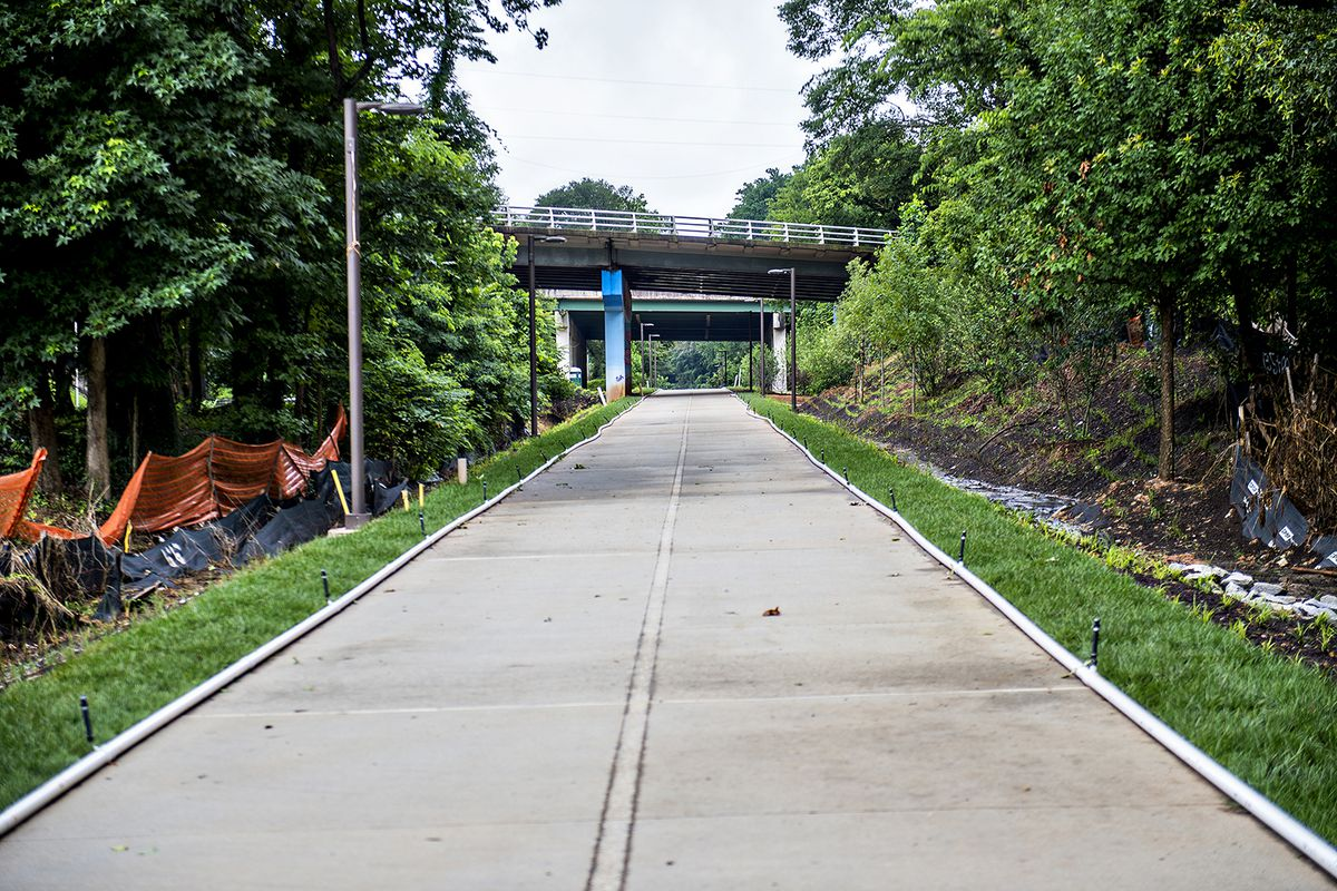 A photo of the Beltline's Westside Trail in West End.