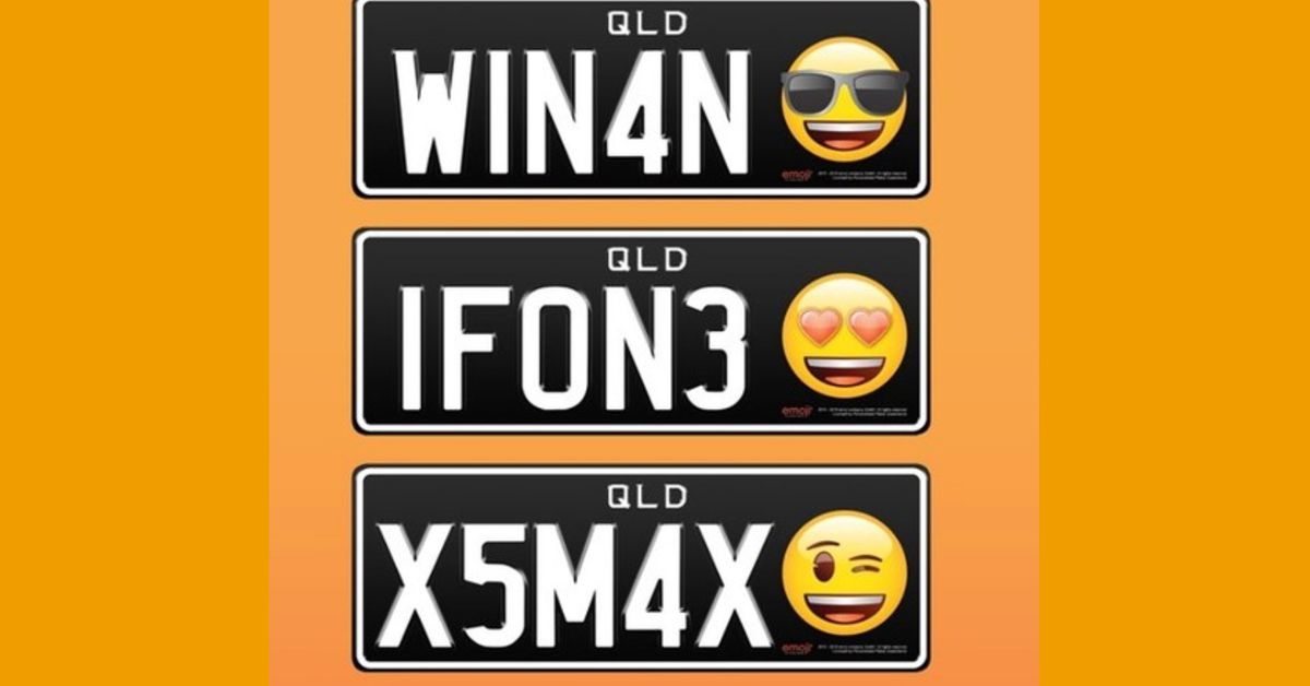 Emoji License Plates will Soon Be Available in Queensland, Australia