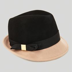 """<b>Ted Baker</b> Torla Bow Trilby Hat, <a href=""""http://www1.bloomingdales.com/shop/product/ted-baker-torla-bow-trilby-hat?ID=861861&CategoryID=21312#fn=spp%3D3%26ppp%3D96%26sp%3D1%26rid%3D86%26spc%3D106"""">$85</a> at Bloomingdale's"""