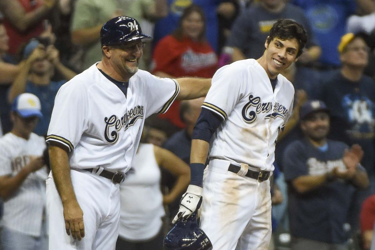 best loved fefe2 32a7f ANOTHER Christian Yelich Cycle! Brewers 8, Reds 0 - Brew ...
