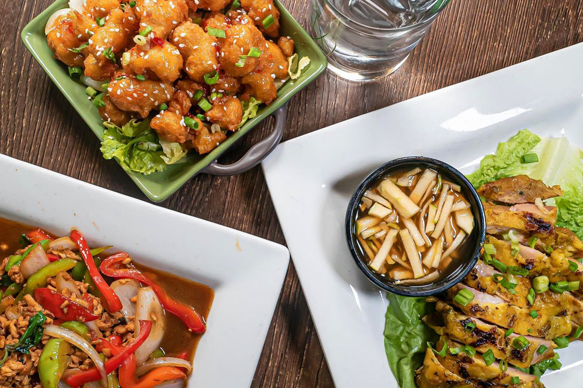 A collection of Thai dishes on the Lemongrass & Lime menu in Centennial and expanding soon to Summerlin.
