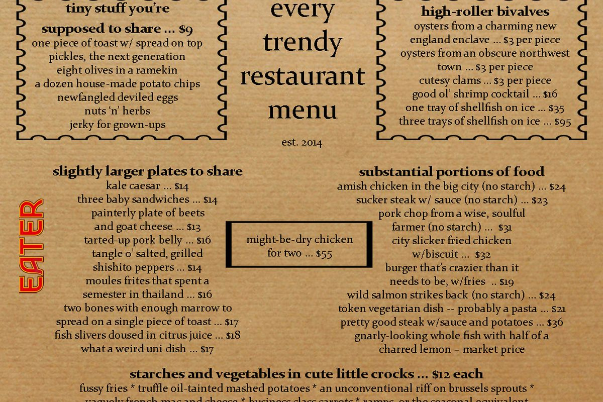 Eat Cafe Philadelphia Menu