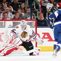 Taking a shot on Corey Crawford in the shootout event in 2015