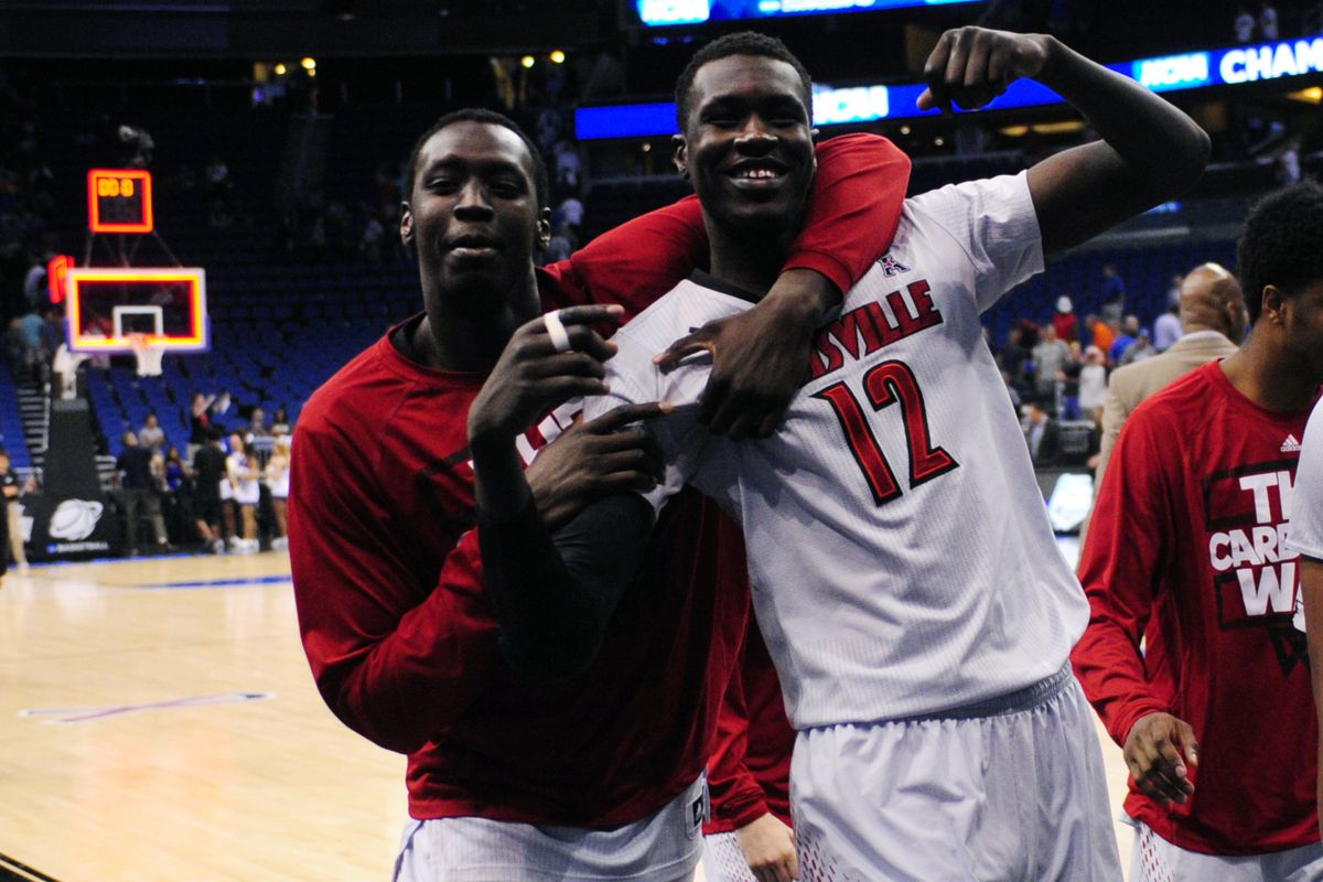 Remember us? We're the defending National Champions, and we don't plan to give the trophy back! Louisville will continue their attempts to defend their title tonight in the Sweet 16.