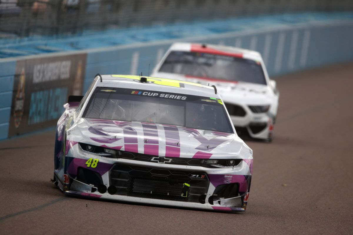 Jimmie Johnson, driver of the #48 Ally Chevrolet, drives during the NASCAR Cup Series Season Finale 500 at Phoenix Raceway on November 08, 2020 in Avondale, Arizona.