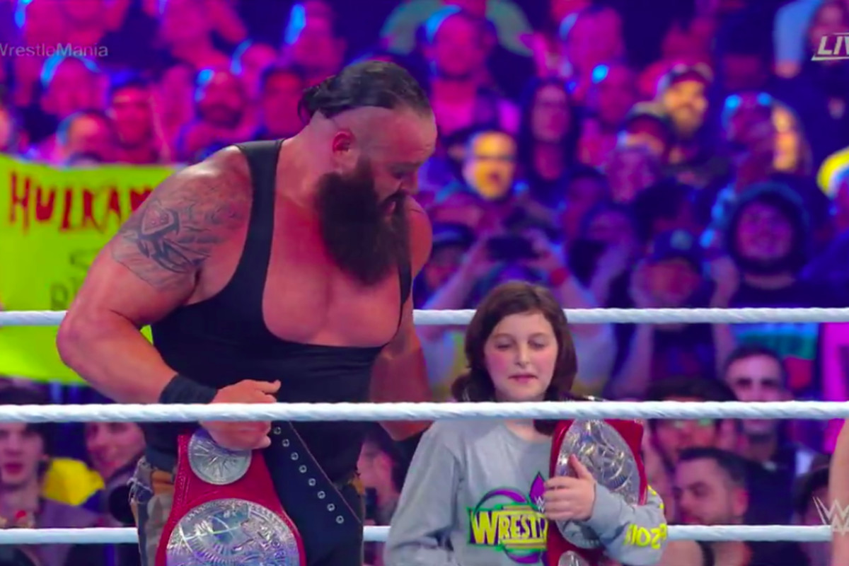 Wrestlemania Results 2018 Braun Strowman And A Child Defeat The Bar