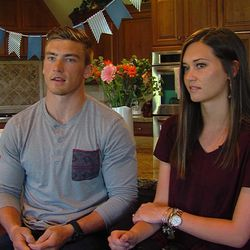Jordan and Jessica Carver talk about their recent vacation to Puerto Vallarta on Tuesday, April 5, 2016, in Kaysville. A Mexican official looked through Jessica's bags and as she was going through her purse, she found several Sudafed pills in the original packaging. She was told the pills were not allowed in the country, and after being detained for seven hours at the airport, she was transported around midnight to a building that had several cells. She spent the night there.