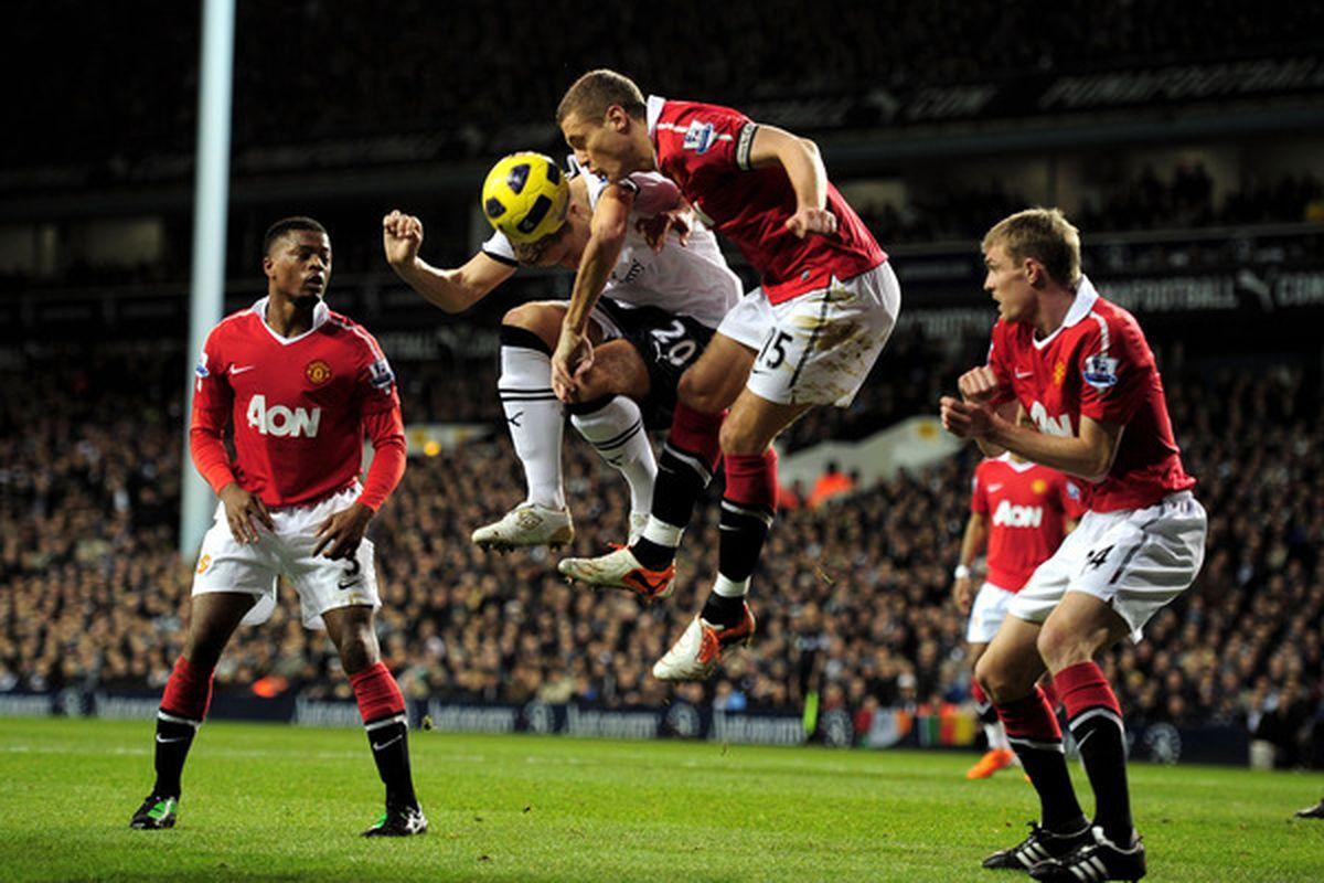 Manchester United skipper Nemanja Vidic absolutely beasted last weekend versus Tottenham Hotspur  (Photo by Shaun Botterill/Getty Images)