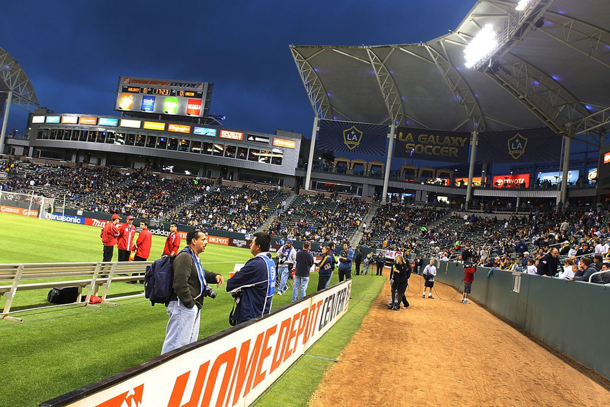 CARSON, CA - APRIL 02:  A general view of the Home Depot Center during the Philadelphia Union v Los Angeles Galaxy Match at The Home Depot Center on April 2, 2011 in Carson, California.  (Photo by Joe Scarnici/Getty Images)